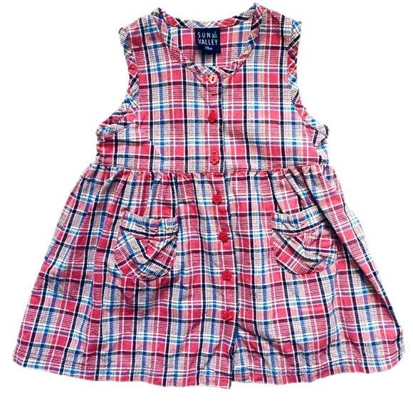 Sun Valley Plaid Button Down Dress